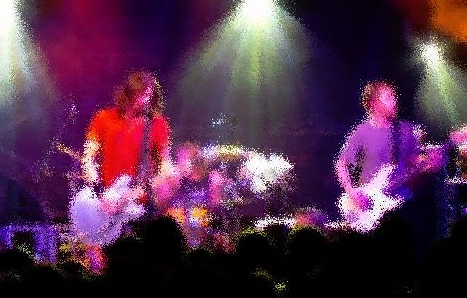 SXSW band playing music
