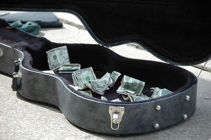 Music Dials Guitar Case Money