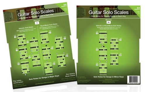 Dual Guitar Solo Scales Charts ebay